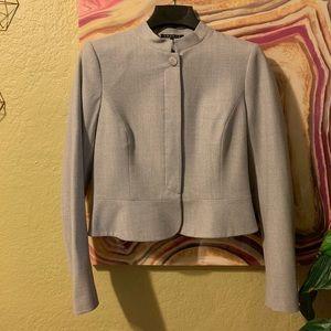 Theory grey gray blazer jacket size 10